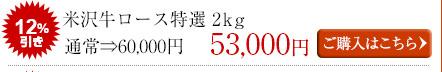 米沢牛通販のロース特選しゃぶしゃぶ用(2kg)