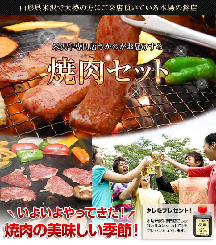 米沢牛通販の米沢牛焼肉セットバナーです。