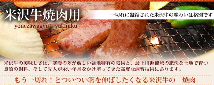 米沢牛通販の焼肉用のバナーです