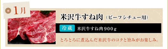1月 米沢牛もも肉・ばら肉(すき焼き用)