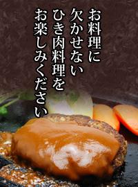 お料理に欠かせないひき肉料理をお楽しみください